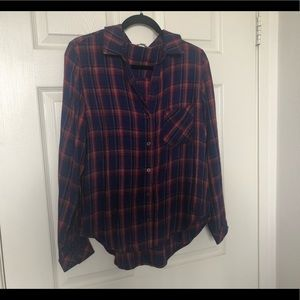 Anthropologie Cloth & Stone Flannel M Long sleeve